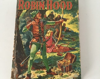 Vintage Robin Hood Book, 1955, Cook Display Book, Home Decor
