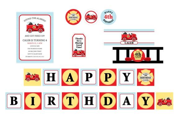 Fireman Birthday Party Theme Fireman Party Theme Firetruck Party