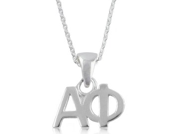 Alpha Phi Sterling Silver Charm Necklace, APhi-6118