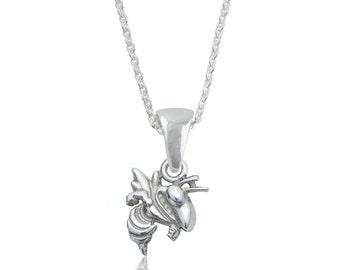 Georgia Tech Silver Necklace
