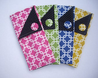Bridesmaids gifts! Set of 4 curling iron/flat iron travel cases make great bridesmaids gifts.