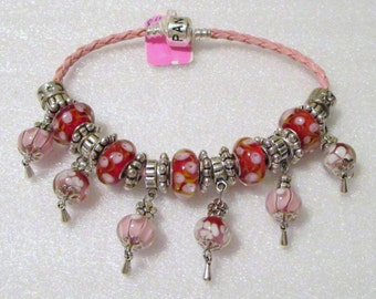 778 - CLEARANCE - Pink and Red Bracelet