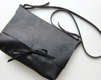 Black messanger bag / woman bag/ black woman bag / crossbody bag