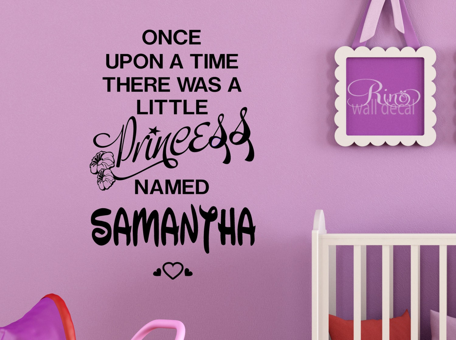 Princess decal once upon a time personalized name wall art vinyl princess decal once upon a time personalized name wall art vinyl sticker walt disney font custom nursery bedroom girl decor amipublicfo Image collections
