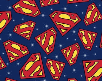Superman Fabric Etsy
