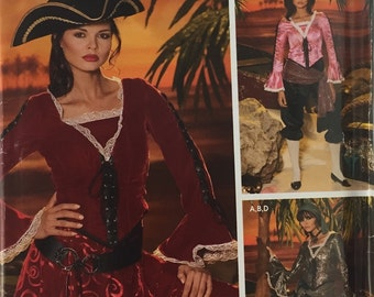 Simplicity 0509 / 4914 Woman's Pirate Costume Pattern size 14-22 uncut from 2004