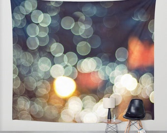 SALE  abstract tapestry, large size wall art, wall decor, photo tapestry, modern tapestry, wall hanging, abstract tapestry, bokeh, clourful