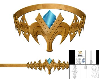 Template for Princess Zelda Crown