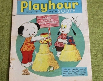 Gorgeous Vintage Sooty Newspaper Comic 6th August 1966