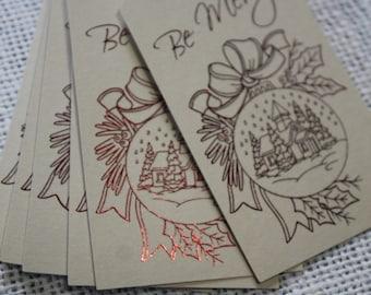 Christmas Tags - Christmas Gift Tags - Holidays tags, set of 8
