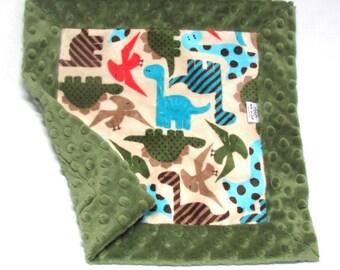 Security Blanket/Lovey - Dark Green Security Blanket - Toddler Security Blanket - Mini Baby Blanket