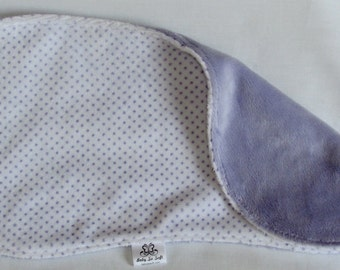 Lavender Burp Cloth - Minky Burp Cloth - Modern Burp Cloth