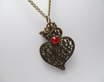 Alice in Wonderland Inspired Queen of Hearts Necklace