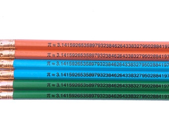 Pi to the 49th Place Inspirational  Math Pencils
