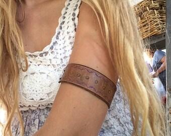 Hand Stamped Leather Bracelets/Armband