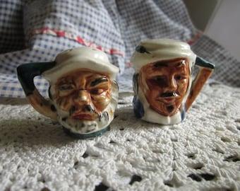 Vintage Pirate Toby Jug Salt & Pepper Shakers Japan Pottery
