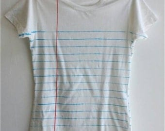 Line Paper T-Shirt back to school style