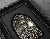 Arch King : hand embossed anatomical metal wall art