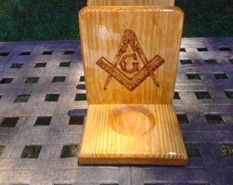 Mason Compass & Square Napkin Holder with Salt and Pepper Shaker Holders