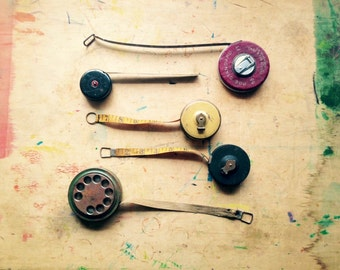 Vintage Metal & Cloth Tape Measure Collection • free shipping • 25% OFF EVERYTHING! promo code: GRATITUDE