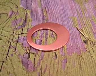 Copper 1 1/4 inch off center Washer center Stamping Blanks