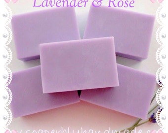 Handmade soap, Lavender and Rose fragrance, Containing Shea butter and essential oils, SLS and Paraben free,