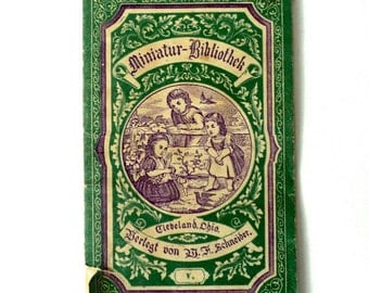 Antique Miniature Library German Children's Book