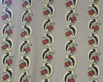"""vintage decorator fabric in 40's - 50's colors 36"""" wide by 7' 22"""""""