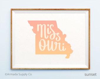 Missouri print - Missouri art - Missouri poster - Missouri wall art