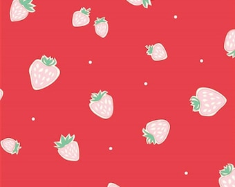 Strawberries, Everyday Party Collection by Emily Isabella for Birch Organic Fabrics 3515