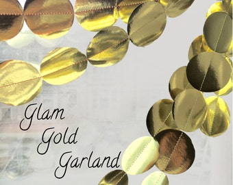 Glam Gold Sequin Garland Party Decorations
