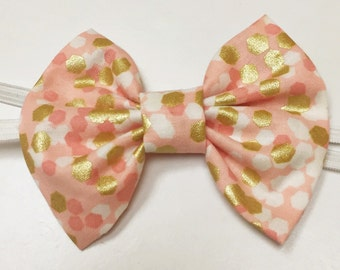 Pink & Gold Bow