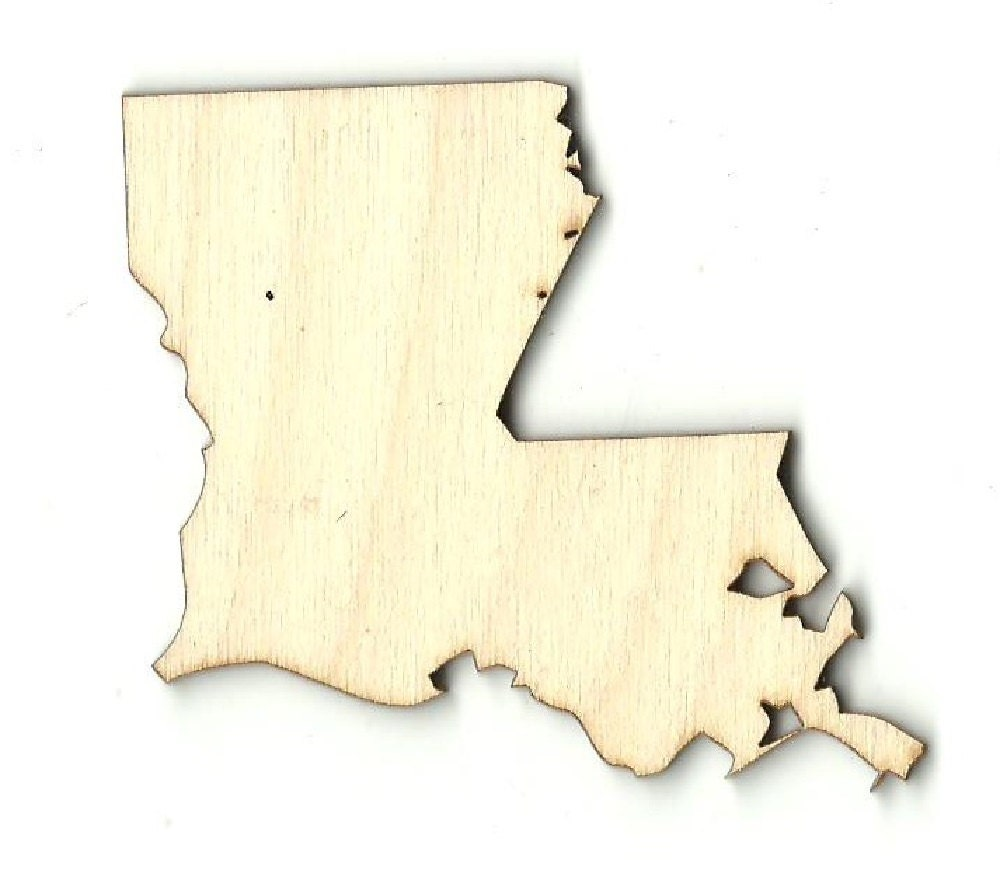 Louisiana laser cut out unfinished wood shape craft supply for Craft supplies wooden shapes