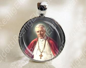St. Pope Pius X Catholic Christian Medal Pendant Patron Saint Religious Jewelry