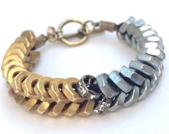 Full Hex Nut Bracelet