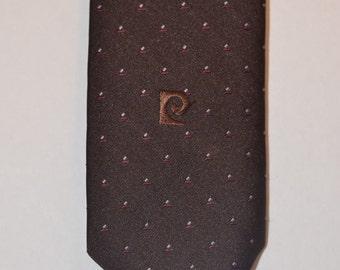 Estate Vintage Pierre Cardin Brown Tie