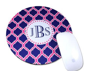 Mouse Pad Round Mouse Pad Personalized Mouse Pad Monogrammed Mouse Pad Computer Mouse Pads