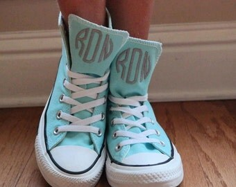 Monogrammed High Top Converse Shoes, initials, Personalized, High Tops, Converse, All Star