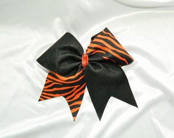Tiger Cheer Bow Hair Bow