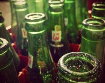 7UP - Original Fine Art Photograph - Soda Pop Bottles