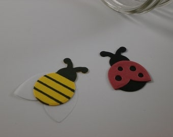 Mini Lady Bug and Bumble Bee Die Cuts (10)