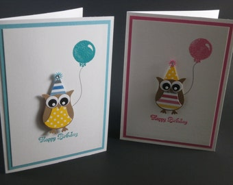 Owl Happy Birthday card
