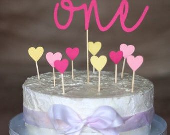 Number & hearts cake topper kit
