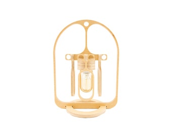 Wood Edison Lamp - Edison Lamp / Lamp / Desk Lamp / Home Decor / Lighting / Architectural Design / Modern / Steampunk / Contemporary