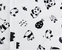 Cute Simple Panda Pattern Cotton Fabric by Yard