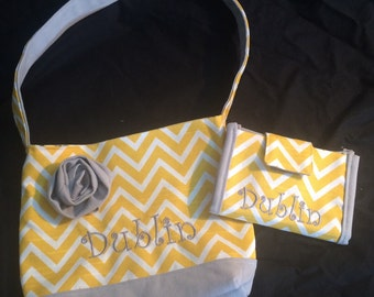 Girls Purse with Matching Wallet with Personalization
