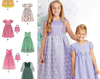 Simplicity Sewing Pattern 1184 Child's and Girls' Dresses and Purse