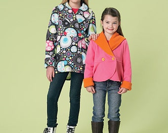 McCall's Sewing Pattern M7236 Children's/Girls' Shawl Collar Jackets and Scarf