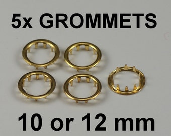 Clock grommets dial key hole brass finish collets 10mm 12mm old antique clocks