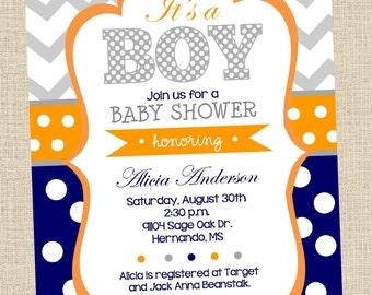 NEW...Personalized Baby Boy Baby Shower Digital Invitation- Printable, Digital, DIY